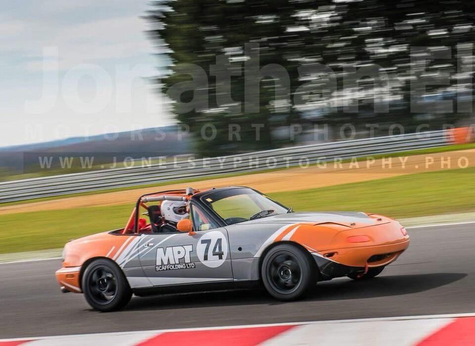 Clive Chisnel Grey/Orange Car No 74. First season racing