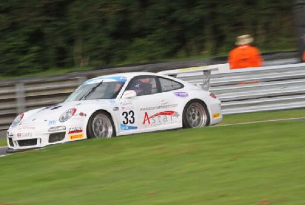 Brian in the GT Cup championship Oulton Park 2016